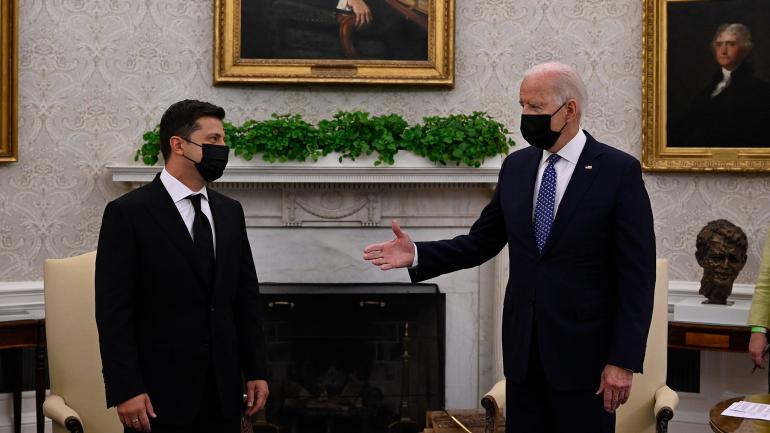 Байден и Зеленский говорили в Белом доме два часа
