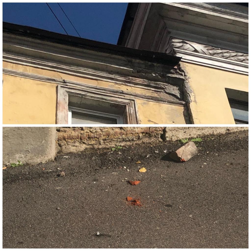 В Адмиралтейском районе ежедневно пишут жалобы на разрушающиеся фасады