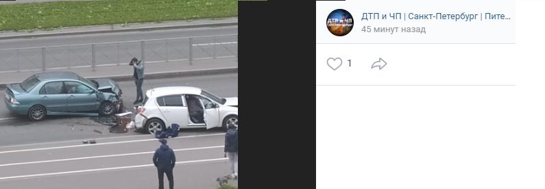 Массовая авария: на Онежской улице столкнулись семь автомобилей