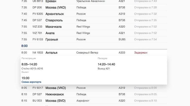 В Пулково рейс в Турцию задержали на семь часов