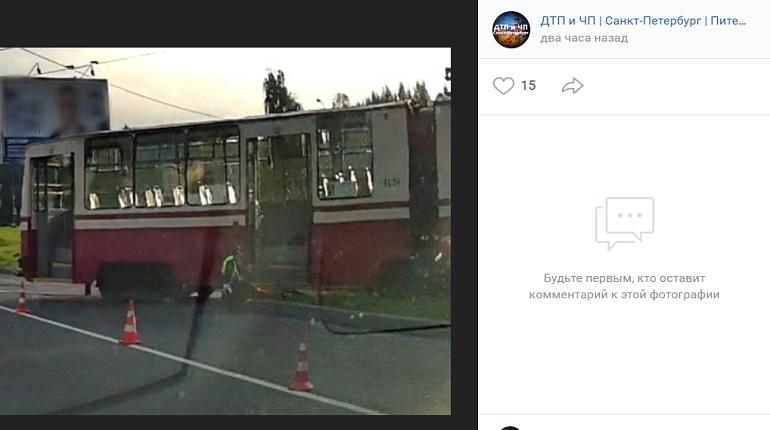 На проспекте Культуры велосипедист попал под трамвай