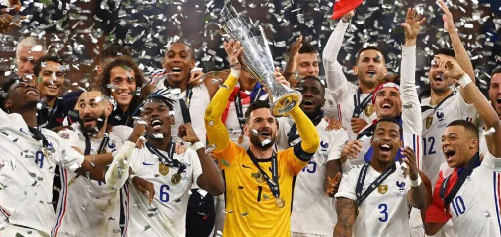 Сборная Франции по футболу выиграла Лигу наций, победив Испанию