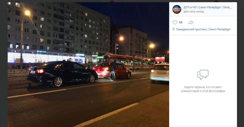 Дерзкая автомобилистка утроила ДТП на Просвещения и покрыла матами невиновного водителя